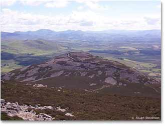 Tre'r Ceiri, seen from the summit of Yr Eifl, Lleyn; once the 'City of Vortigern' ?