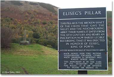 Pillar of Elise in the Vale of Llangollen