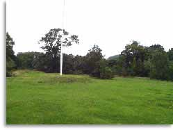 The modern remains of the castle mound