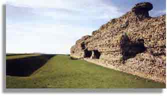 Wall and ditch of the Saxon Shore fort