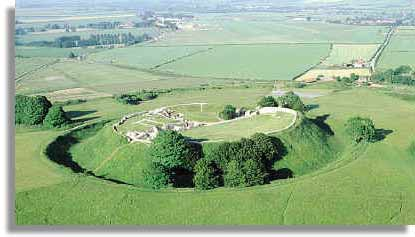 The Norman motte inside the Iron Age hillfort of Old Sarum.