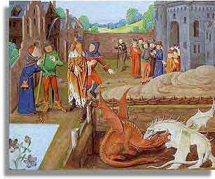 Vortigern and the Dragons at Dinas Emrys